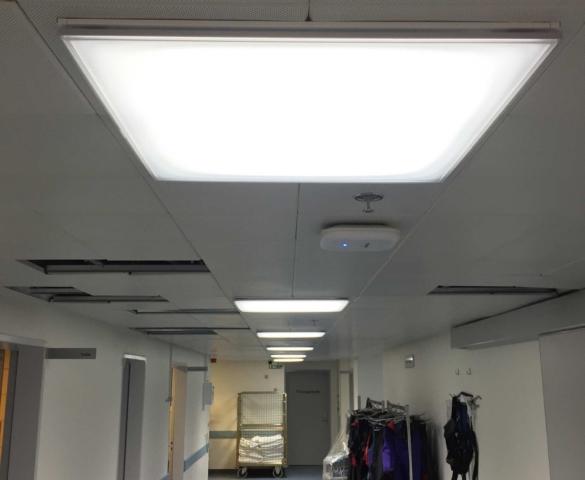 Dynamisk Belysning på en afdeling